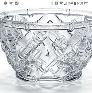 TIFFANY & CO. Bamboo Chinoiserie Crystal Bowl